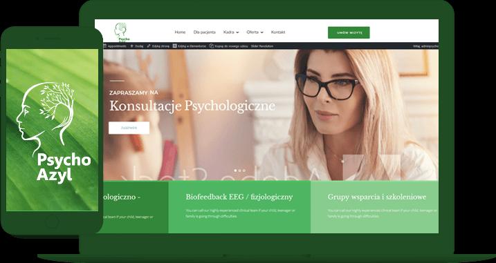 psychoterapia online miniatura wyświetlania strony psychoazyl na laptopie i telefonie